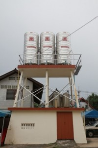 Our Donations at Work, New Watertanks for The Pattaya Orphanage.